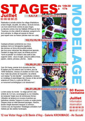 Expositions et Stages d'été 2010